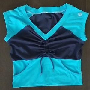Lululemon Blue Vintage Cropped Top